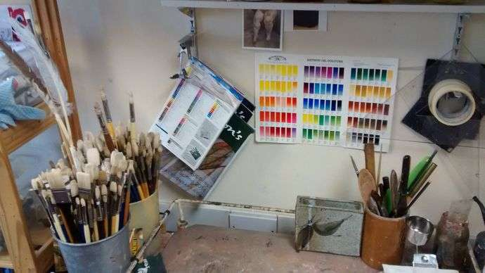 A corner of an artist's studio